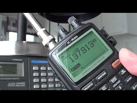Icom IC R20 VS Realistic PRO-2006 noaa 18 satellite