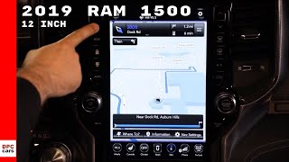 2019 Ram 1500 Navigating Uconnect 12 inch Touchscreen Display