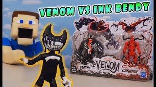 Bendy the INK DEMON Vs. VENOM EPIC FIGHT Venom & Carnage Toys Unboxing