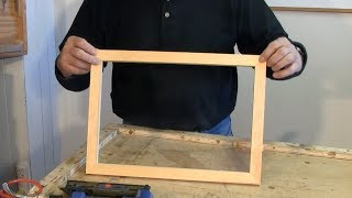 Making Picture Frames with a Sliding Mitre Saw - A woodworkweb.com woodworking video