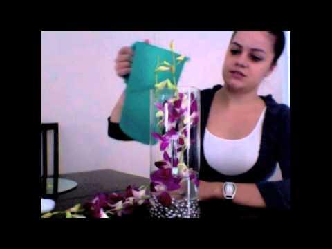Wedding Event Orchid Flower Centerpieces Floral Arrangment YouTube