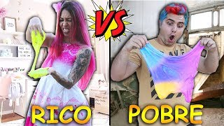 RICO VS POBRE FAZENDO AMOEBA / SLIME |  Maloucos #3