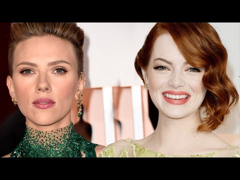 Emma Stone vs Scarlett Johansson: Best 2015 Oscars Red Carpet Fashion?