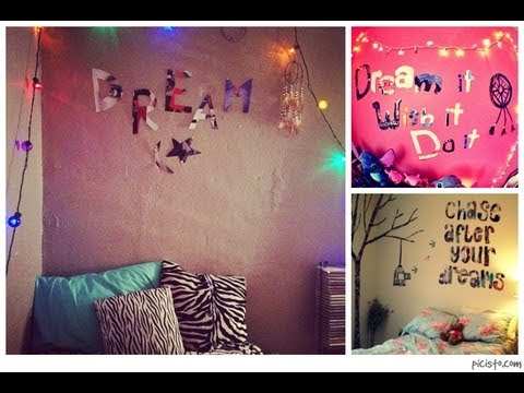 Diy room decor tumblr inspired bedroom quotes youtube for Diy room decor quotes