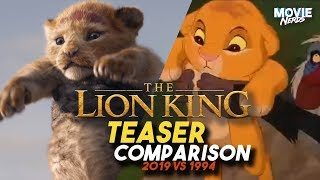 The Lion King Trailer Comparison to The Original