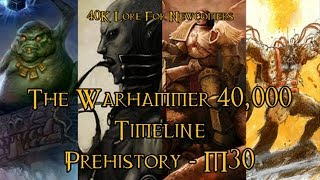40K Lore For Newcomers - The Warhammer 40,000 Timeline: Prehistory - M30 - 40K Theories
