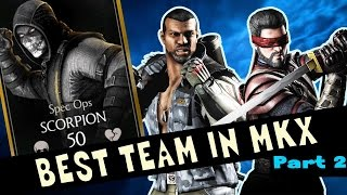 BEST TEAM IN MKX MOBILE (Part 2) THEY STEAL POWER AND NEVER DIE