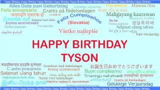 Tyson   Languages Idiomas - Happy Birthday