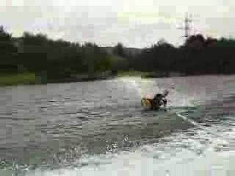 Kneeboarding - Rachel Clarke back rolls, slalom and tricks Video