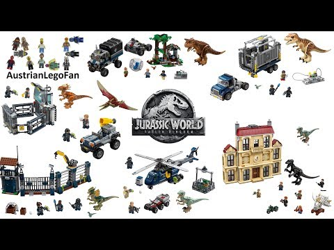 All Lego Jurassic World : Fallen Kingdom Sets 2018 - Lego Speed Build Review