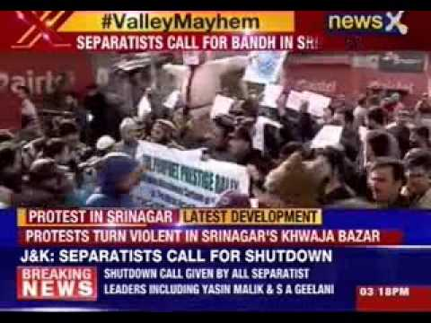 Violent protest against Charlie Hebdo raises in Jammu and Kashmir