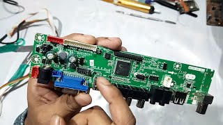 How to install universal LCD LED board full details