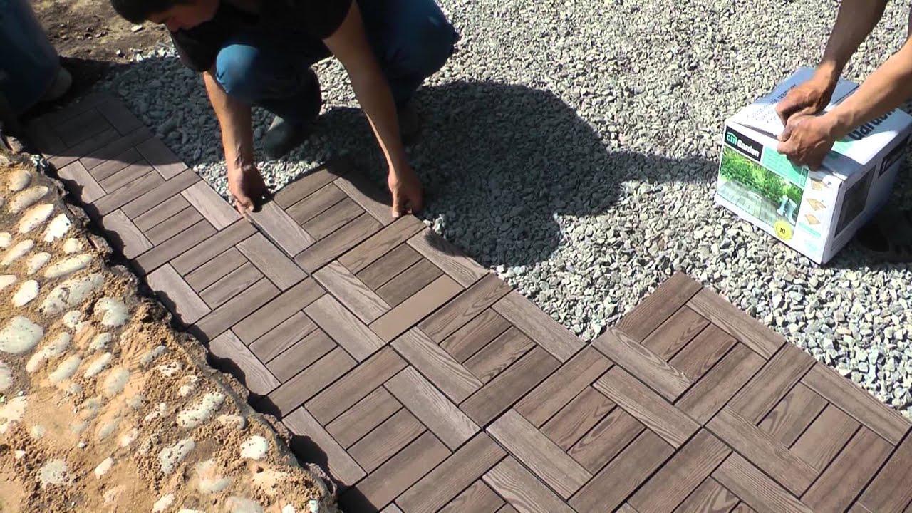 Плитка на садовые дорожки своими руками 91