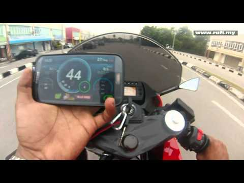 Naza Blade GTR 250 / Hyosung GT250R Speedometer Accuracy Test With GPS