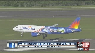 Allegiant plane forced to make emergency landing two days in a row
