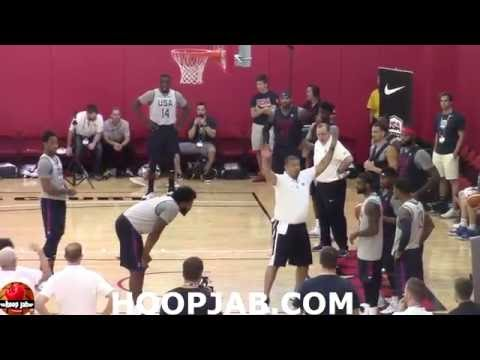 USA Basketball Training Camp 2016 Day 2 Drills.Kevin Durant,Carmelo Anthony,Kyrie Irving