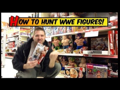 Grims Toy Show Episode 1: WWE Figure hunting. fans collections review. wrestling action news