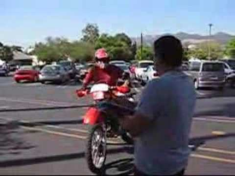 DMV Motorcycle Riding test