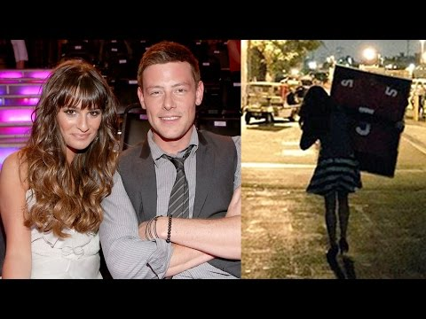 Lea Michele Takes Cory Monteith Jersey From Glee Set