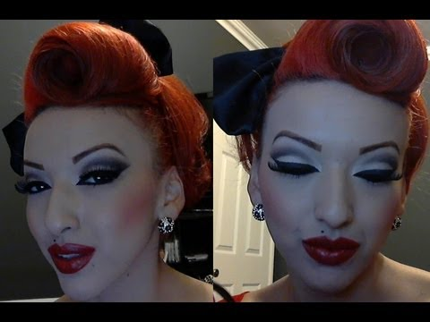 PART 1 Modern Vintage Pinup Makeup Tutorial