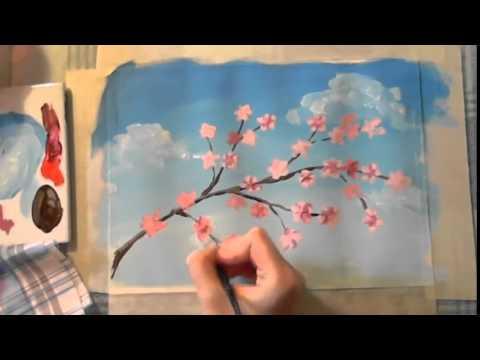 Поэтапный урок рисования гуашью