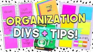 Organization Tips + DIYs for Everyone!