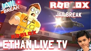 POLICE OFFICER PLAYING ROBLOX JAILBREAK   ETHANLIVE
