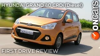 2013 Hyundai Grand i10 1.1U2 CRDi (Diesel) - First Drive review by OnCars India