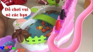Trò chơi chim cánh cụt leo cầu thang và câu cá 2 trong 1   YoYo chơi bộ đồ chơi siêu quạy   YoYo TV