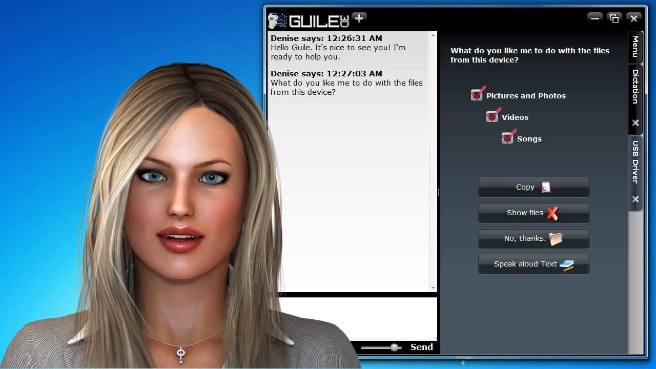 Guile 3D Studio - Virtual Assistant Denise - The Beginning