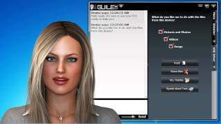 Guile 3D Virtual Assistant Denise performs Optical Character Recognition