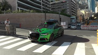Audi RS6 w/Akrapovic exhaust - Loud accelerations