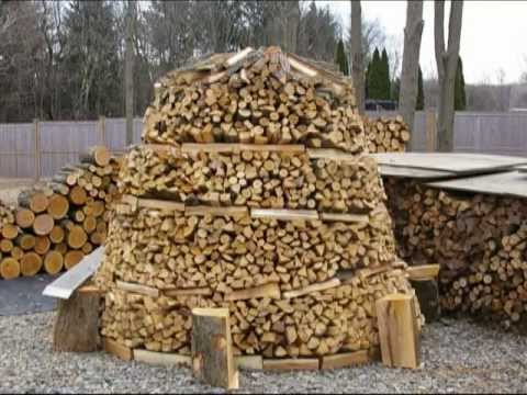 how to build wood pile