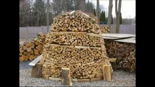 How to Build a Holz Hausen | Wood House | Beehive Woodpile | Holzmiete | Holz Haufen