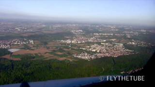 ILS RWY25 Stuttgart, STR EDDS Airport, HD Cockpit view