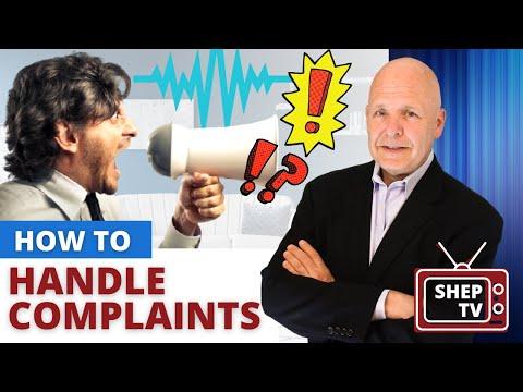 Customer Service Speaker Explains How to Handle Complaints