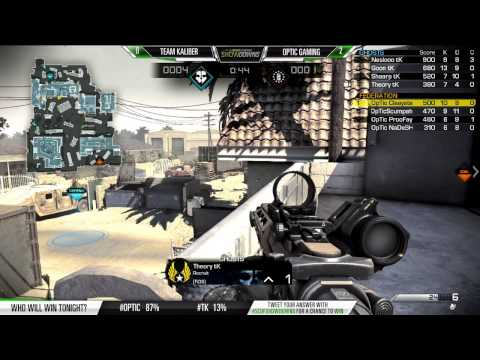 Scuf Gaming Showdowns OpTic Gaming vs Team Kaliber Game 3 September 4 2014