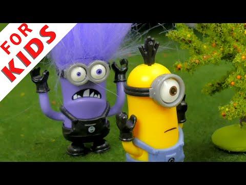 The Minions VS The Evil Minion . Cartoon for kids.
