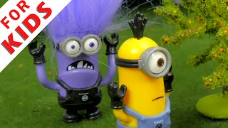 The Minions VS The Evil Minion . Cartoon for kids.