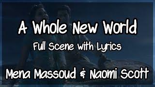 "Mena Massoud, Naomi Scott - A Whole New World Scene + Lyrics FULL (From ""Aladdin"")"