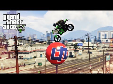 LUCKIEST BIKE STUNTS! - (GTA 5 Top 10 Stunts)