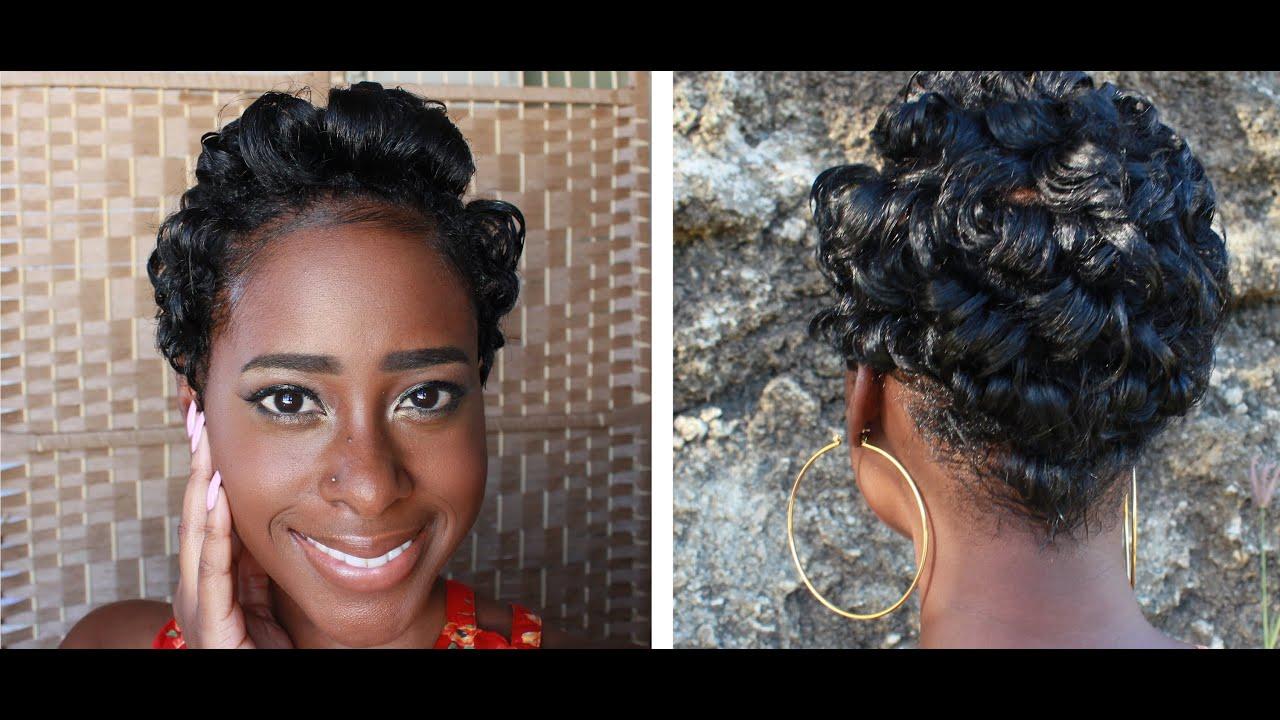 Curly pixie wedding