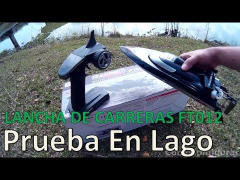 FT012 2.4G Brushless RC Racing Boat Prueba Lago Español