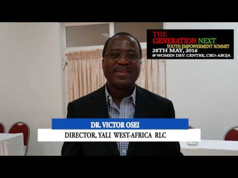 DIRECTOR YALI WESFT AFRICA RLC INVITES YOU TO THE GENERATION NEXT YOUTH EMPOWERMENT SUMMIT 2016