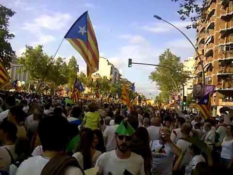 11 Setembre 2015. Barcelona. Meridiana. Diada de Catalunya