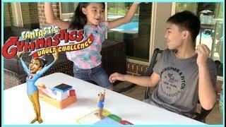 Fantastic Gymnastics Game VAULT CHALLENGE + Surprise Disney Toy | Toys Academy