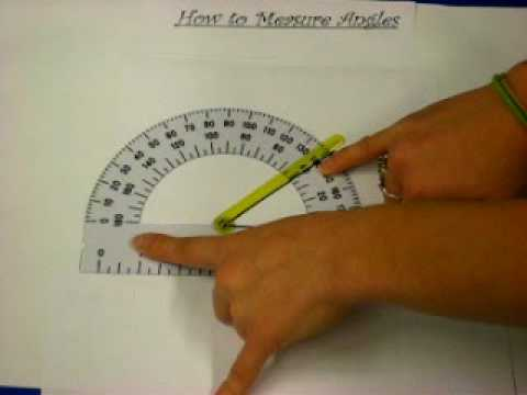 RHS Geometry - How to Use a Protractor