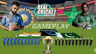 INDIA VS PAKISTAN LIVE GAMEPLAY || REAL CRICKET 19 LIVE GAMEPLAY || LIVE STREAMING