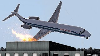 Crashing Immediately After Takeoff in Detroit | Alarming Silence | Northwest Airlines 255