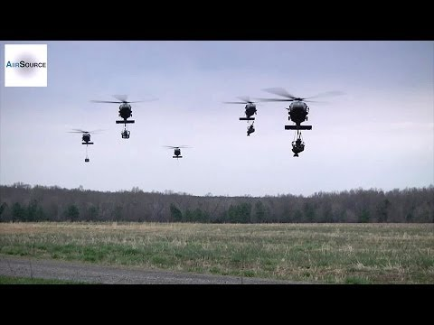 M119A2 Howitzers, Troops, Carge Airlift by UH-60 Black Hawks